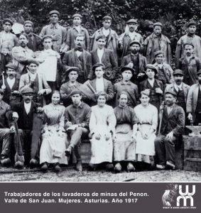 Trabajadoras de los lavaderos de minas del Penon Asturias