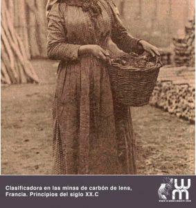 Clasificadora en las minas de Carbón principios de Siglo