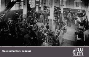 Mujeres dinamiteras trabajando en Galdakao