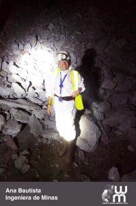 Ana Bautista trabajando en una mina
