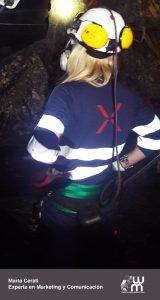 Marta Cerati en la mina