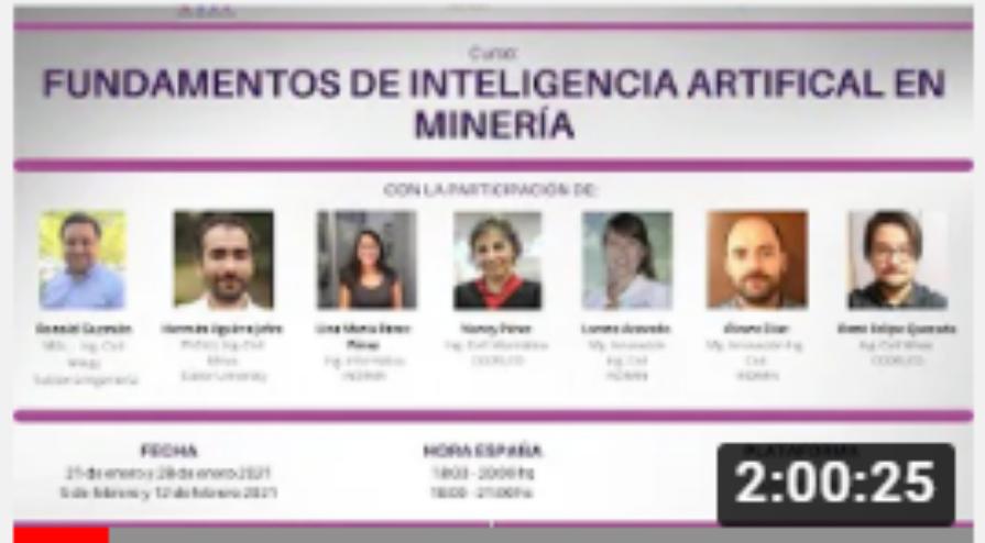 CAPACITACIONES: Módulo 2 Curso Fundamentos de IA en Minería