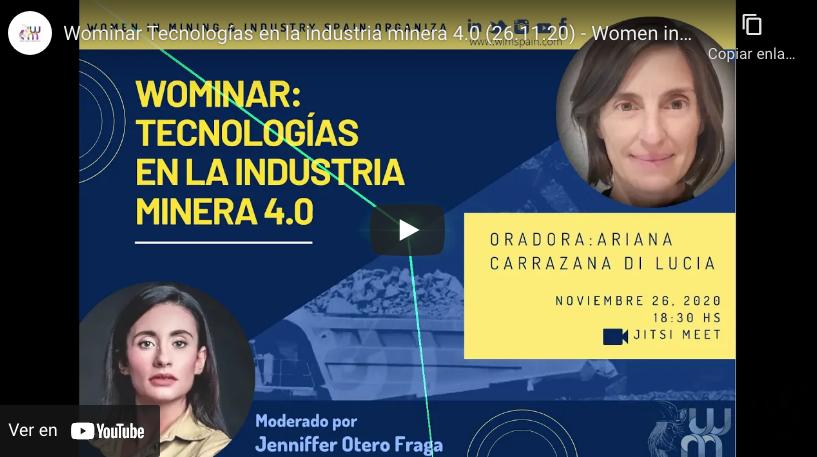 WOMINAR: Tecnologías en la Industria Minera 4.0